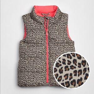 Baby Gap Toddler Cold Control Max Leopard Vest
